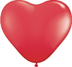 HEART SHAPED LATEX- LARGE RED